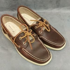 Sperry Top Sider Shoes Leather Brown 6.5